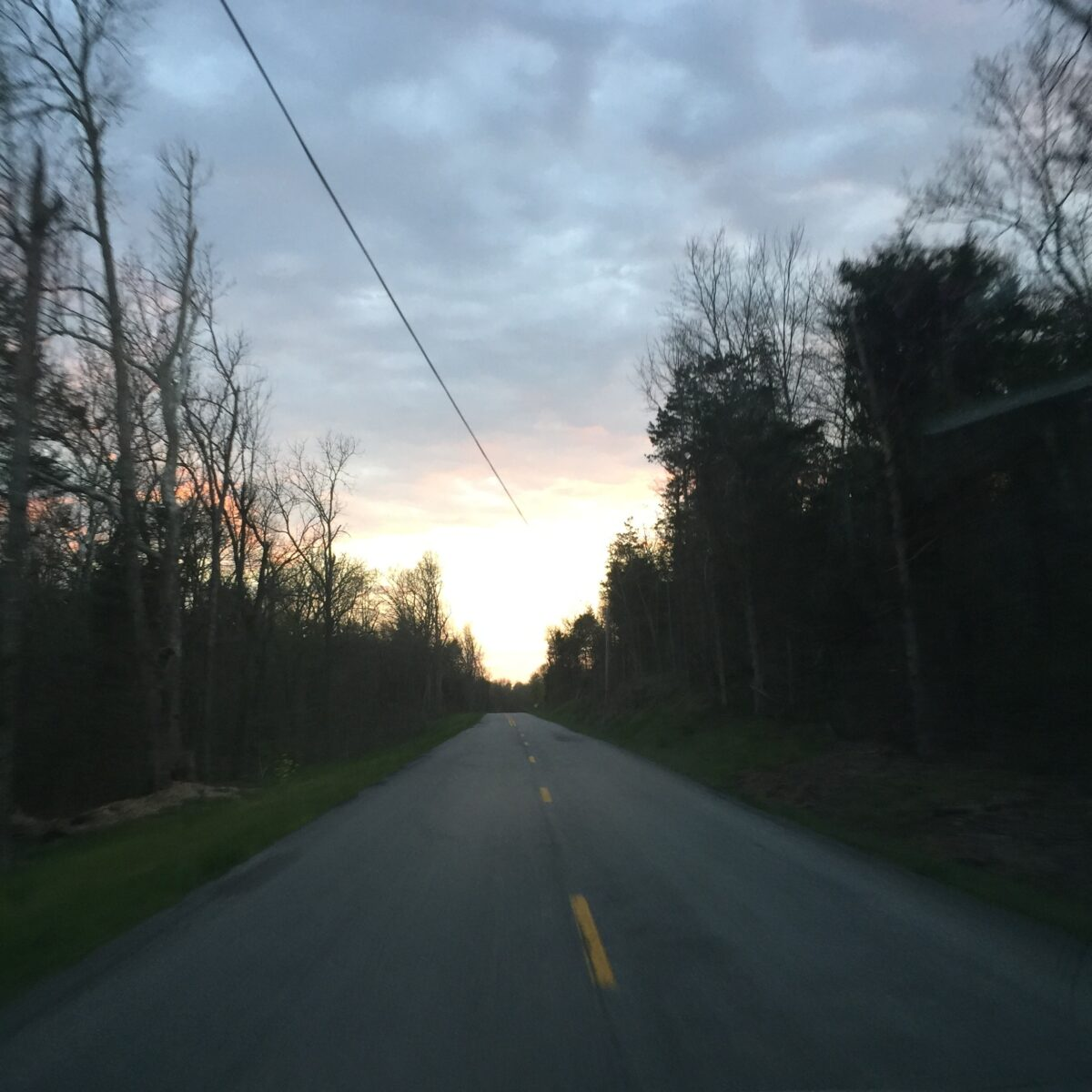 On the road to the Abbey of Gethsemani