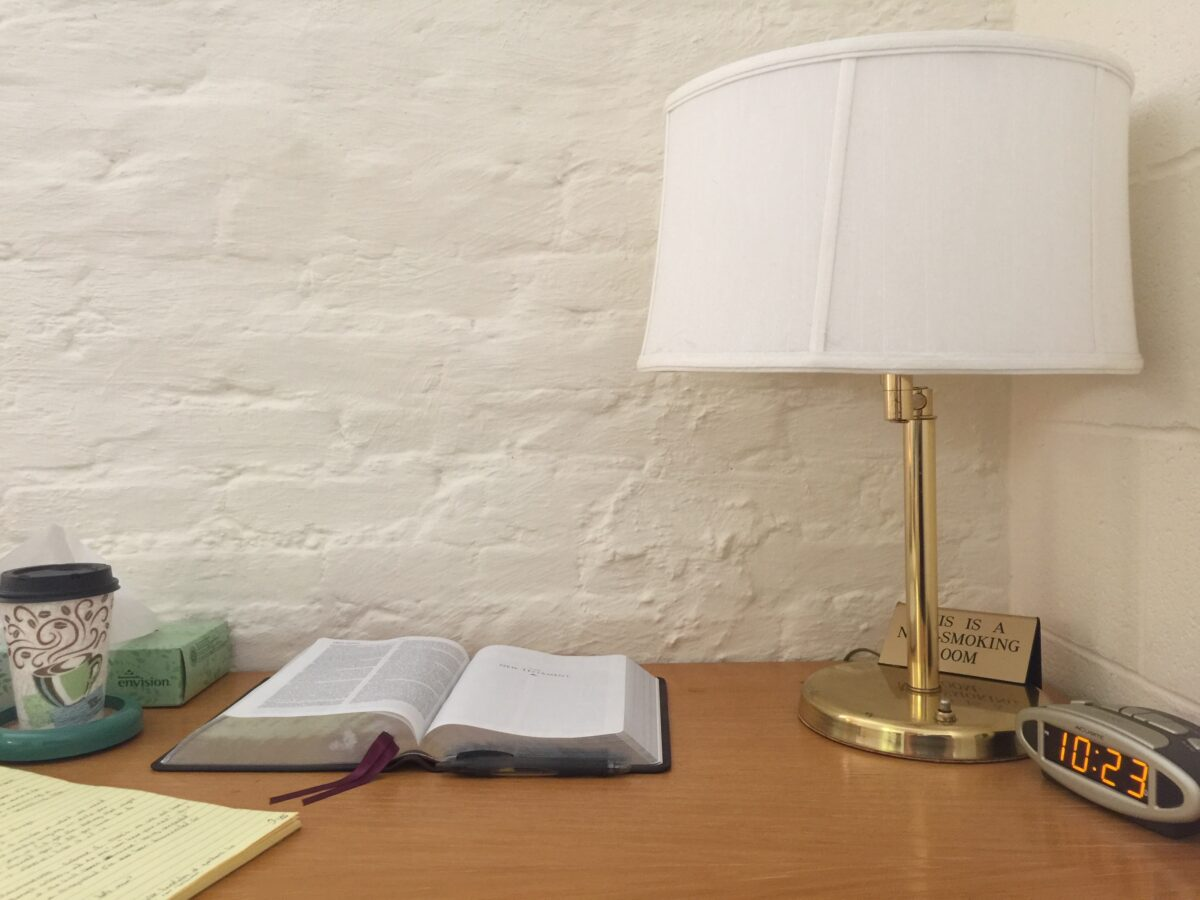 My desk at the Abbey of Gethsemani